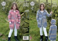 KC 4606 Girls' Coats in chunky