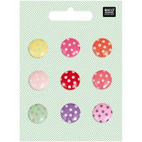 Rico Buttons 9-pack shank 15mm