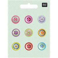 Rico Buttons 9-pack 14mm Mix