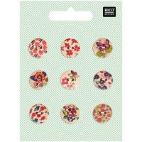 Rico Buttons 9-pack 15mm Flora