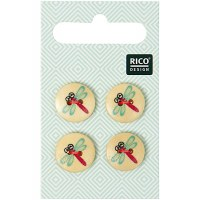 Rico Buttons 4-pack 15mm Drago