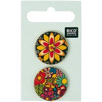Rico Buttons 2-pack 25mm Folkl