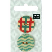 Rico Button 25mm Grafic Print