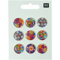Rico Buttons 9-pack 18mm Folkl