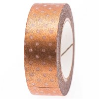 Tape Copper white dots 10m