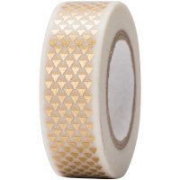 Tape Triangles Gold, Hot Foil