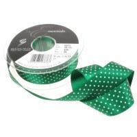Ribbon Micro Dot Green 25mm