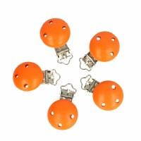 Pacifier Clip 6 Orange