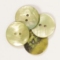 Drops Button 611 Round Green