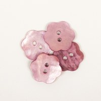 Drops Button 616 Flower Pink