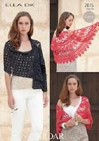 Sirdar 7015 wrap and shawl
