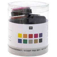 Stamp Pad Set Basic 10 pieces