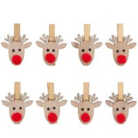 Rico Clips, Reindeer Wood Gold