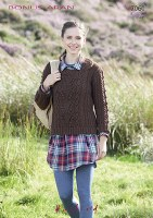 Hayfield 7060 Aran Sweater