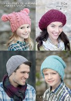 Hayfield 7124 Hats in Aran
