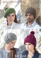 Sirdar 7182 Aran Hats