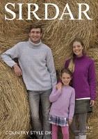 Sirdar 7825 Sweaters in dk