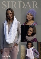 Sirdar 7868 Scarves in Smudg d
