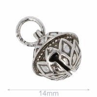 Decorative Bell 14mm Silver
