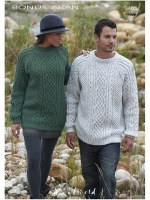 Hayfield 9465 Aran jumpers