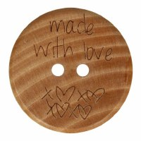 Button Wood Made with Love 20m