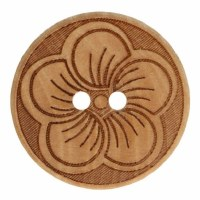 Button Round Flower 20mm