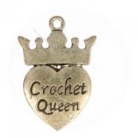 """De Bondt """"Crochet Queen"""" Charm"""