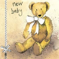 Alex Clark New Baby Teddy Bear