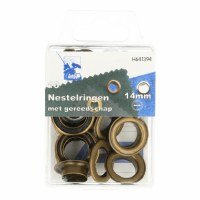 Eyelets with Tool 14mm Ant Gol