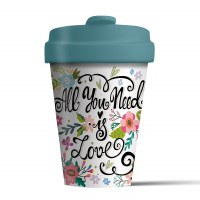 Bamboo Cup All you need is lov