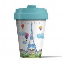 Bamboo Cup Paris Watercolour