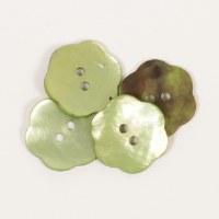 Drops Button 601 Flower Green