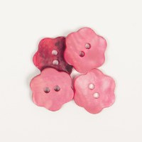 Drops Button 617 Flower Red
