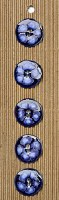 Incomp Buttons L305 Blue Round