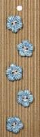 Incomp Buttons L086 Blue Flowe