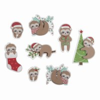 Festive Sloths - 8 pieces