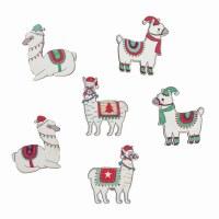 Festive Llamas - 6 pieces