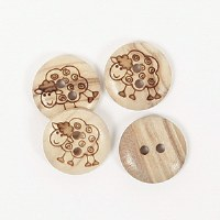 Drops Button 627 Sheep 15mm