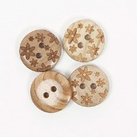 Drops Button 628 15mm Flowers
