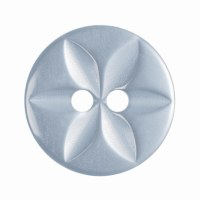 Button Round Star 14mm P Blue