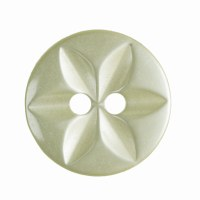 Button Round Star 14mm Yellow
