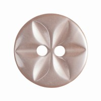 Button Round Star 14mm Peach
