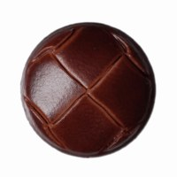 Button Football Russet 15mm