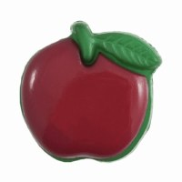 Button - Apple Red 15mm