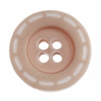Button Stitched 18mm Beige