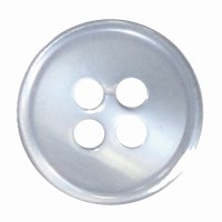 Button 4 Hole 13mm Light Blue