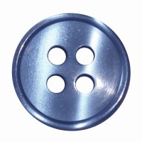 Button 4 Hole 13mm Mid Blue