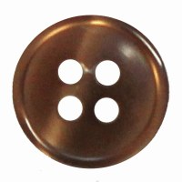 Button 4 Hole 13mm mid-Brown