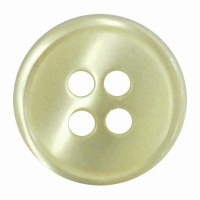 Button 4 Hole 13mm Light Yello