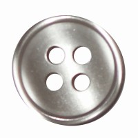 Button 4 Hole 13mm Grey